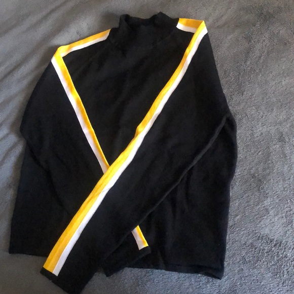 Blouse black and yellow